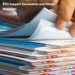 RTO Support Documents and Other Materials